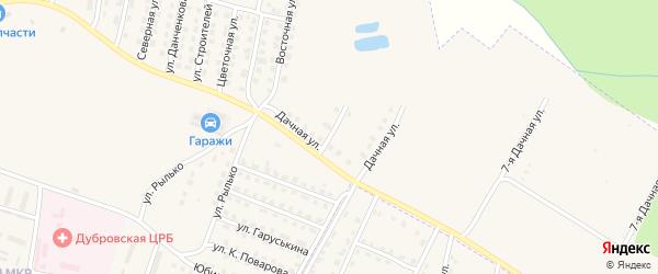 Дачная улица на карте поселка Дубровки с номерами домов