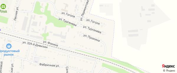Улица Пушкина на карте поселка Дубровки с номерами домов