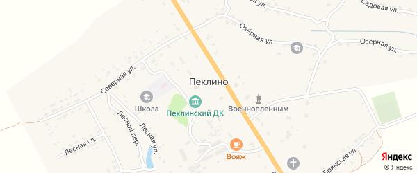 Заречная улица на карте деревни Пеклино с номерами домов