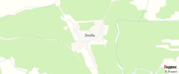 Карта поселка Знобь в Брянской области с улицами и номерами домов