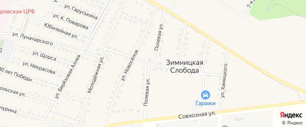 Полевая улица на карте деревни Зимницкой Слободы с номерами домов