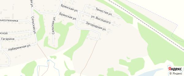 Солнечная улица на карте поселка Дубровки с номерами домов