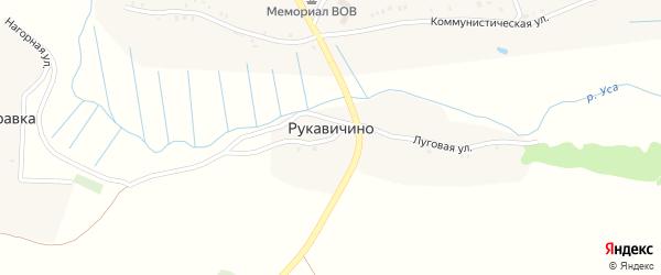 Полевая улица на карте деревни Рукавичино с номерами домов