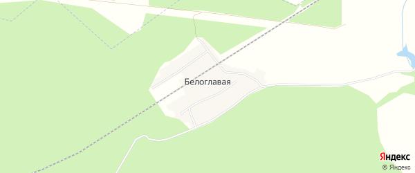 Карта поселка Белоглавой в Брянской области с улицами и номерами домов