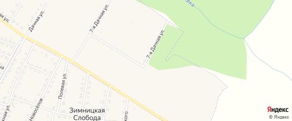 7-я Дачная улица на карте территории Урочища Черного Ручья ИС с номерами домов