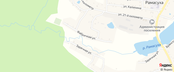 Фабричная улица на карте поселка Рамасуха с номерами домов
