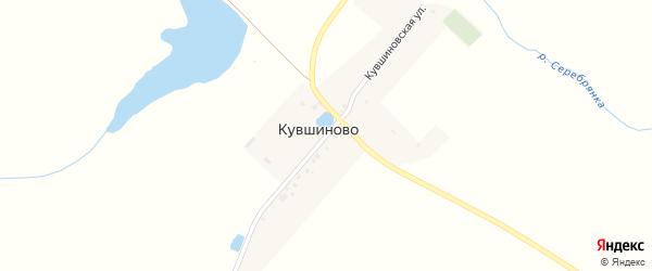 Кувшиновская улица на карте деревни Кувшиново с номерами домов