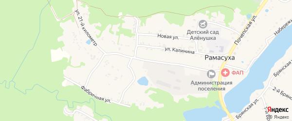 Улица 21 км на карте поселка Рамасуха с номерами домов