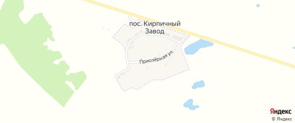 Приозерная улица на карте поселка Кирпичного Завода с номерами домов