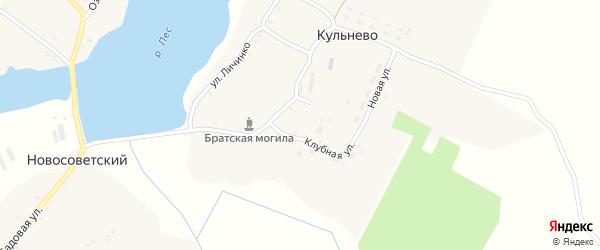 Новая улица на карте села Кульнево с номерами домов