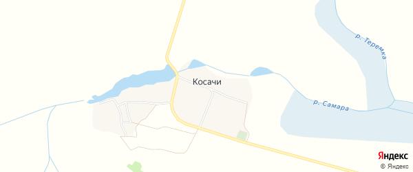 Карта деревни Косачи в Брянской области с улицами и номерами домов