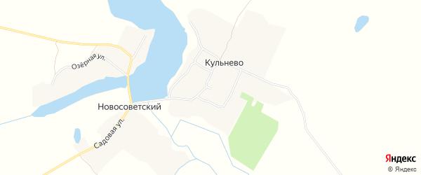 Карта села Кульнево в Брянской области с улицами и номерами домов