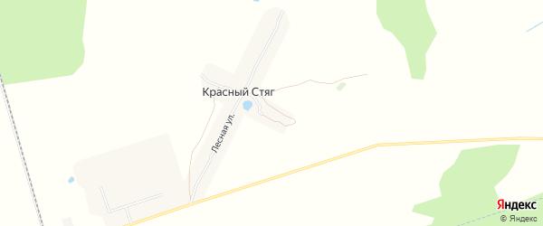 Карта поселка Красного Стяга в Брянской области с улицами и номерами домов