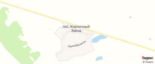 Озерная улица на карте поселка Кирпичного Завода с номерами домов