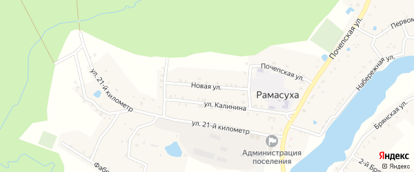 Новая улица на карте поселка Рамасуха с номерами домов