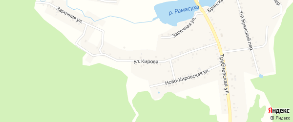 Улица Кирова на карте поселка Рамасуха с номерами домов
