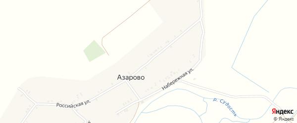 Российская улица на карте деревни Азарово с номерами домов