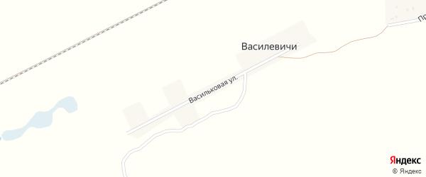 Васильковая улица на карте поселка Василевичей с номерами домов