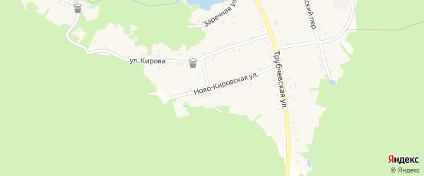 Ново-Кировская улица на карте поселка Рамасуха с номерами домов