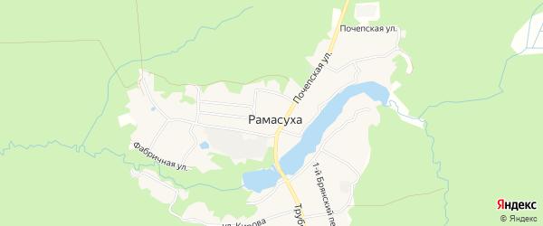 Карта поселка Рамасуха в Брянской области с улицами и номерами домов
