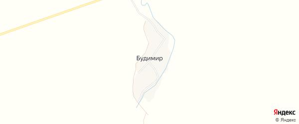 Карта поселка Будимира в Брянской области с улицами и номерами домов