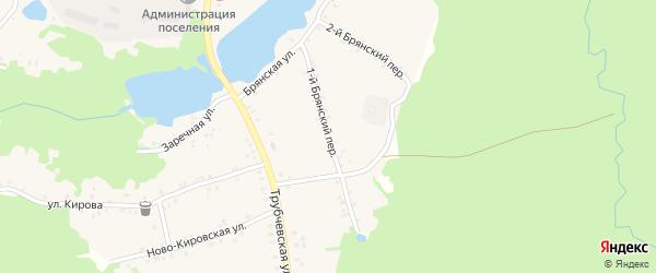 1-й Брянский переулок на карте поселка Рамасуха с номерами домов
