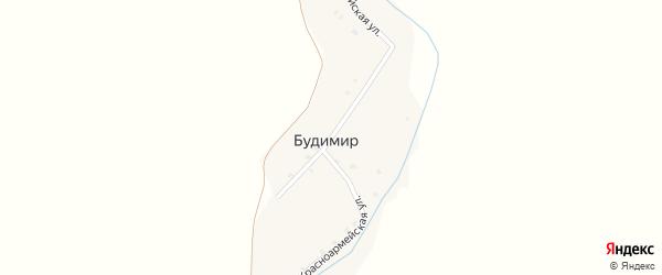 Красноармейская улица на карте поселка Будимира с номерами домов