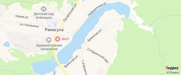 Брянская улица на карте поселка Рамасуха с номерами домов