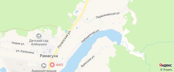 Набережная улица на карте поселка Рамасуха с номерами домов
