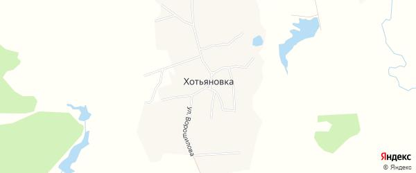 Карта деревни Хотьяновки в Брянской области с улицами и номерами домов