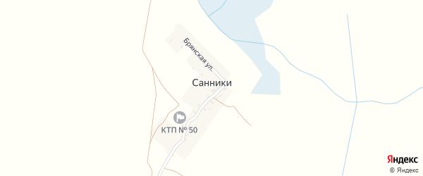 Брянская улица на карте деревни Санники с номерами домов