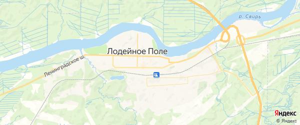Карта Лодейного Поля с районами, улицами и номерами домов