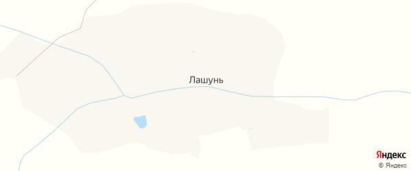 Луговая улица на карте деревни Лашуни с номерами домов