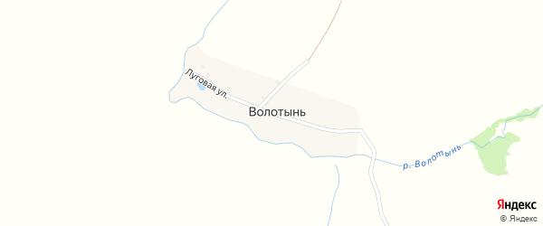 Луговая улица на карте деревни Волотыни с номерами домов