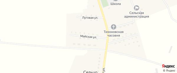 Майская улица на карте поселка Гобики с номерами домов