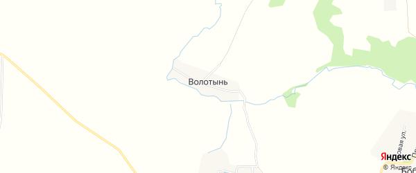 Карта деревни Волотыни в Брянской области с улицами и номерами домов