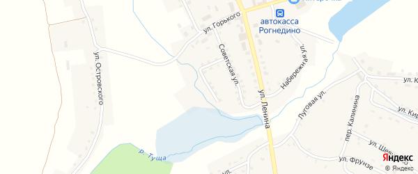 Советский переулок на карте поселка Рогнедино с номерами домов