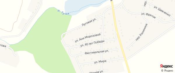 Улица Ани Морозовой на карте поселка Рогнедино с номерами домов