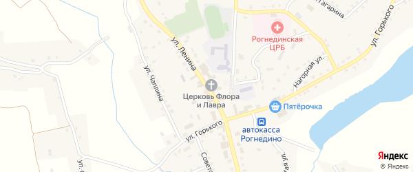 Улица Ленина на карте поселка Рогнедино с номерами домов