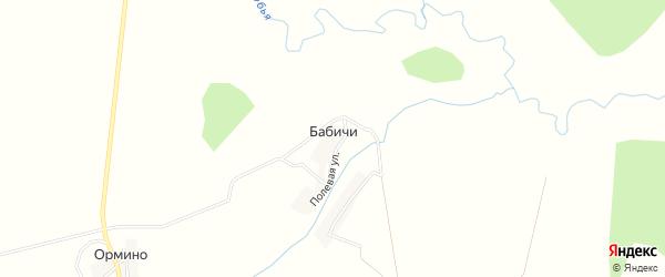 Карта деревни Бабичи в Брянской области с улицами и номерами домов