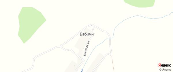 Полевая улица на карте деревни Бабичи с номерами домов