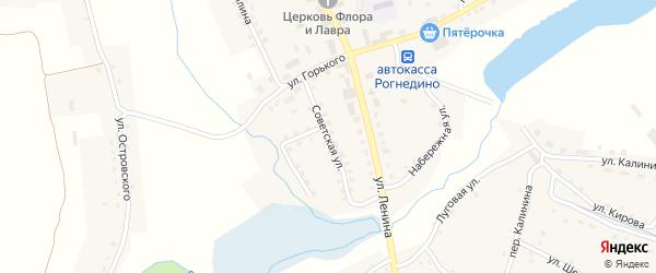 Советская улица на карте поселка Рогнедино с номерами домов