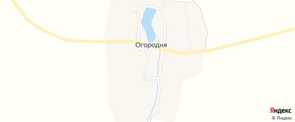 Набережная улица на карте деревни Огородни с номерами домов