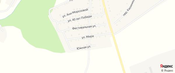 Улица Мира на карте поселка Рогнедино с номерами домов