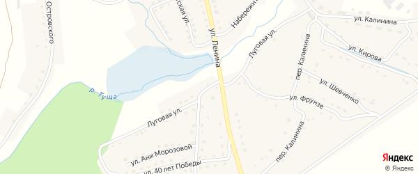 Луговая улица на карте поселка Рогнедино с номерами домов