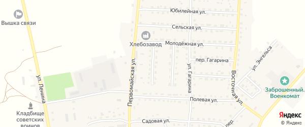 Улица Казеичева на карте поселка Рогнедино с номерами домов