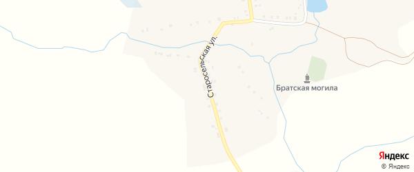 Старосельская улица на карте деревни Ужа с номерами домов