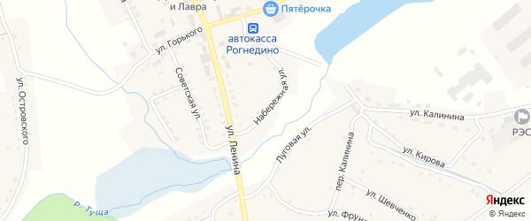 Набережная улица на карте поселка Рогнедино с номерами домов