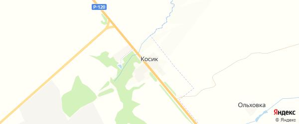 Карта поселка Косика в Брянской области с улицами и номерами домов