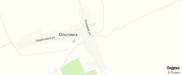 Полевая улица на карте деревни Ольговки с номерами домов